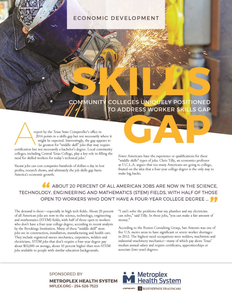Skills Gap - Community Colleges Uniquely Positioned to