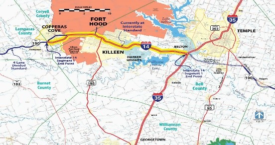 Blog | Greater Killeen Chamber of Commerce Interstate Map on interstate 14 texas,
