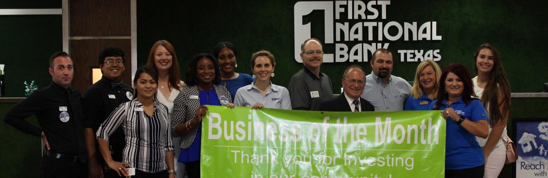 Biz of Month First National Bank Texas